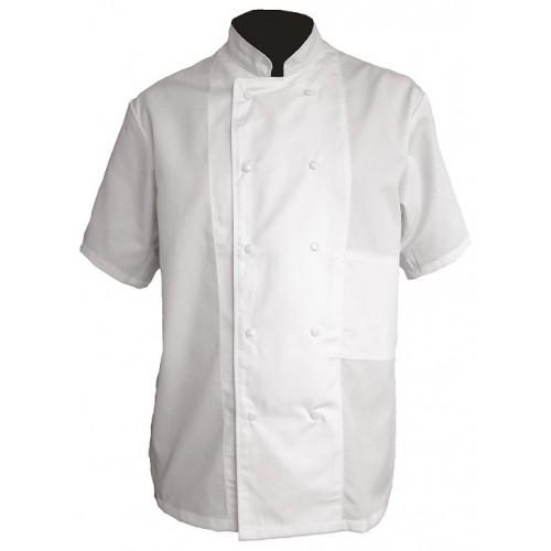 Veste de cuisine coton manches courtes