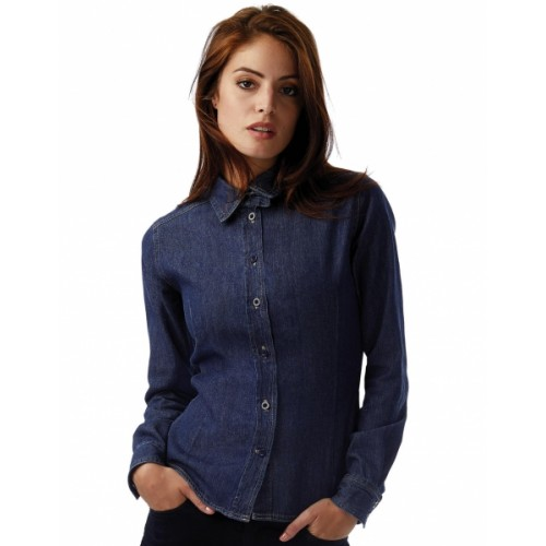 Chemise coupe droite Denim pour femme.