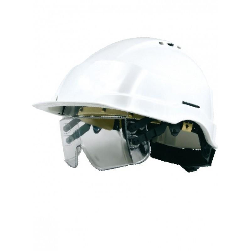 casque de chantier singer casque avec lunette int gr e. Black Bedroom Furniture Sets. Home Design Ideas