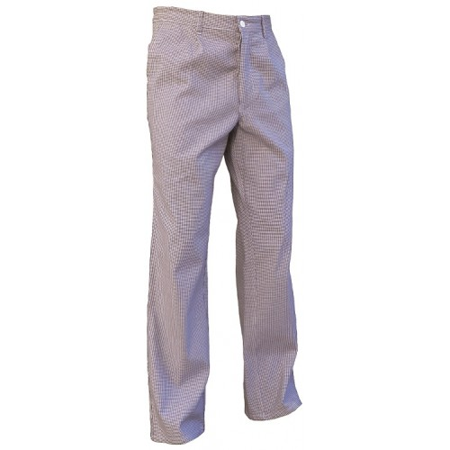 Pantalon de cuisine polyester coton pied de poule