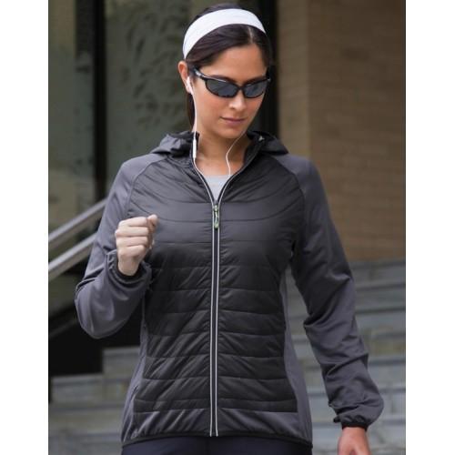 Veste bimatière sportwear femme