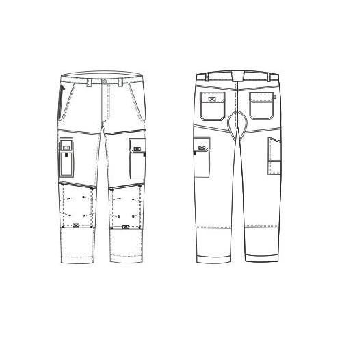 Jeans Typhon + élastiqué.