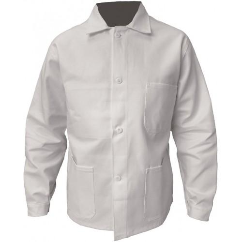 Veste de travail 100%  coton blanc ou bugatti